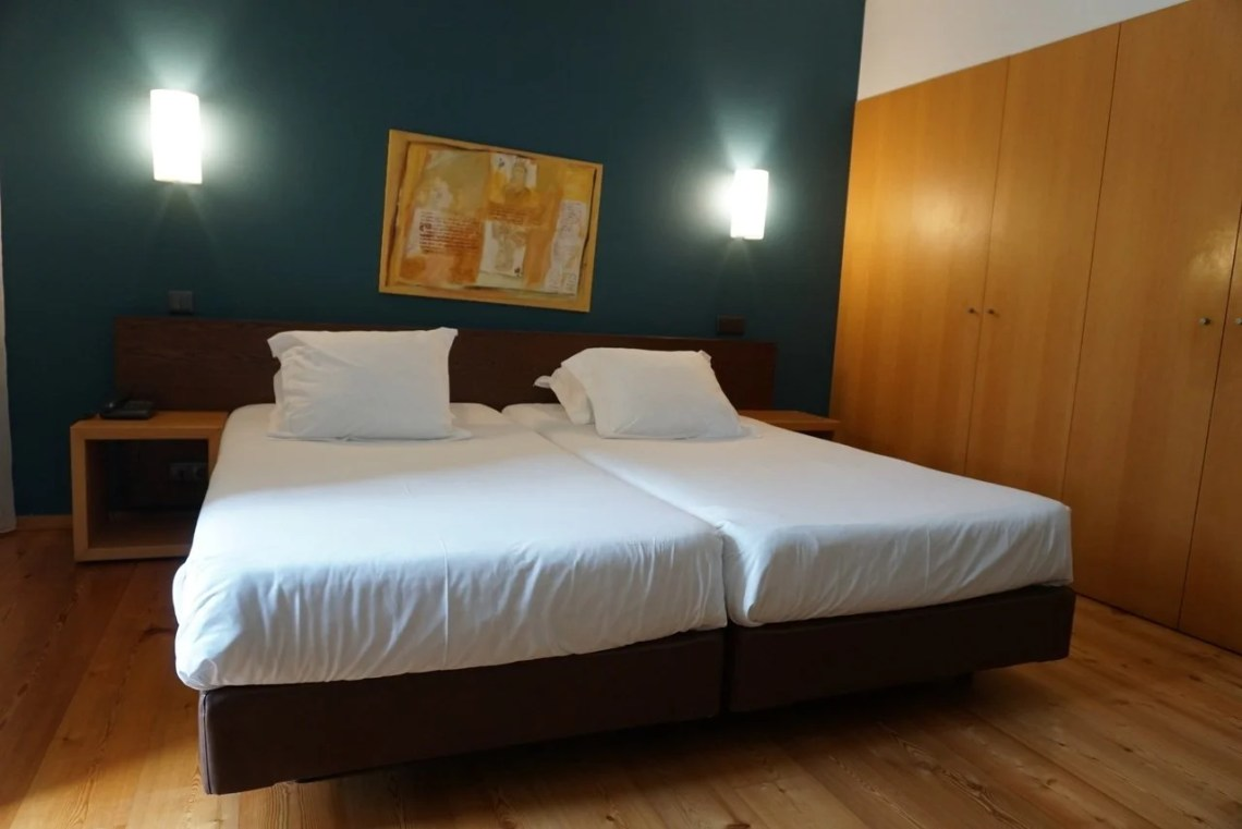 Quarto duplo do hotel Monte Prado