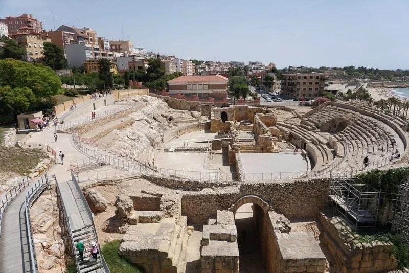 Ruínas do alfiteatro de Tarragona