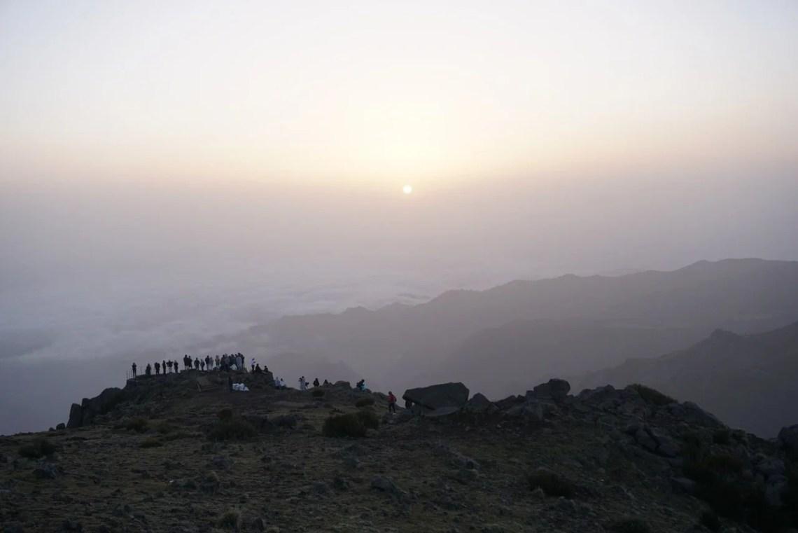 Nascer do Sol no Pico do Arieiro.