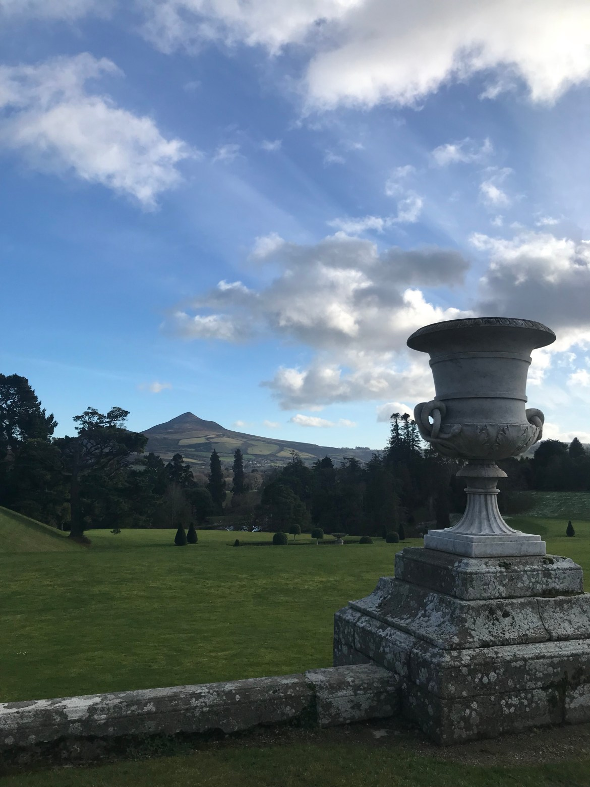 Powerscourt house and gardans