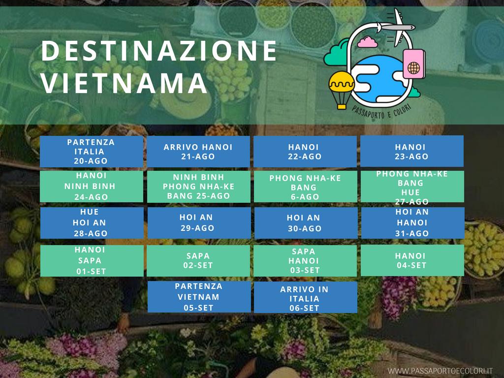 Destinazione Vietnam: programma