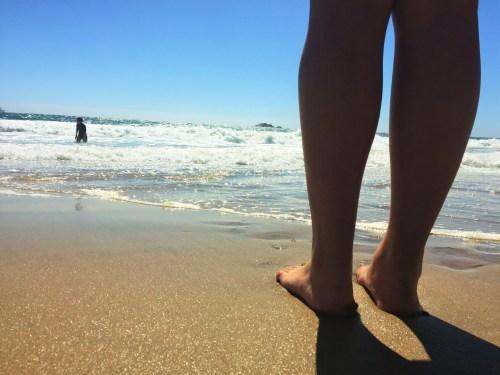Playa Renaca - Molhando o pé