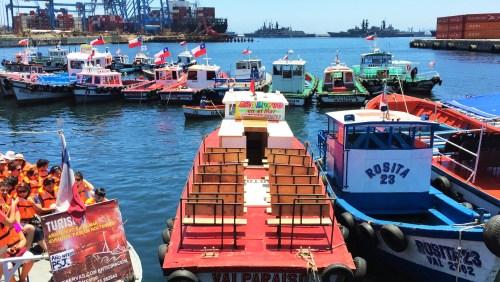 Porto de Valparaiso - Saida de Tours