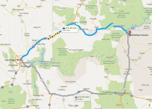Roteiro - Las Vegas para Antelope Canyon