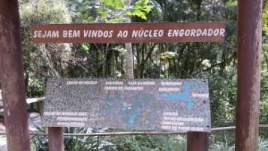 Mapa da trilhas - Núcleo Engordador - Foto: Patrícia Ribeiro/ Passeios Baratos em SP