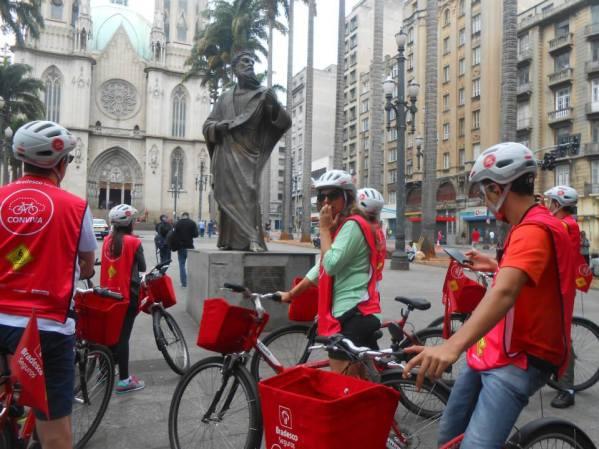 Biketour pelo centro histórico de São Paulo Foto: Divulgação