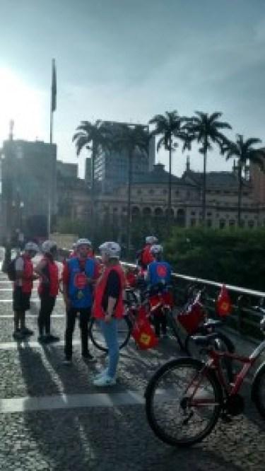 Não precisa ter bicicleta. O Bike Tour SP aluga os equipamentos. Foto: Rodrigo Caldas