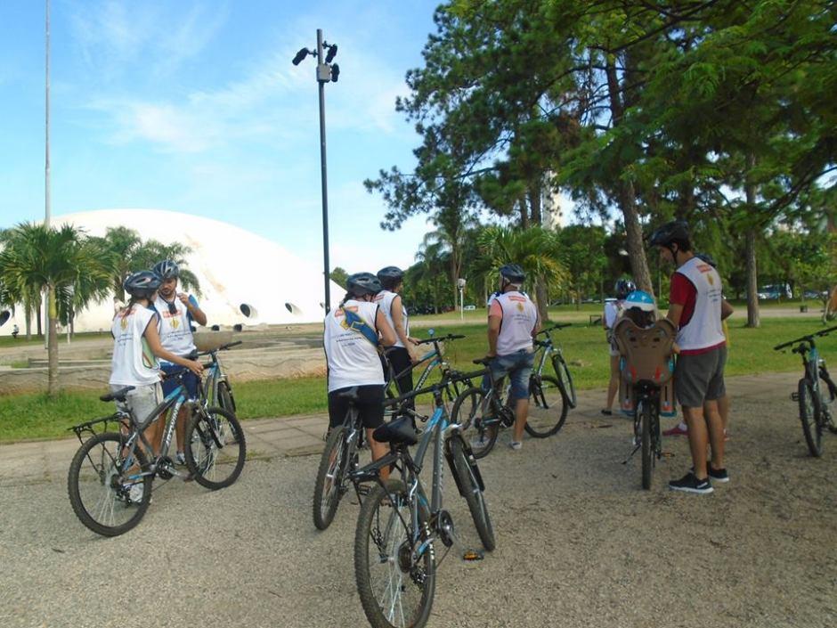 Passeio de bicicleta gratuito promovido pela Bike Tour SP pelo Ibirapuera Foto: Divulgação