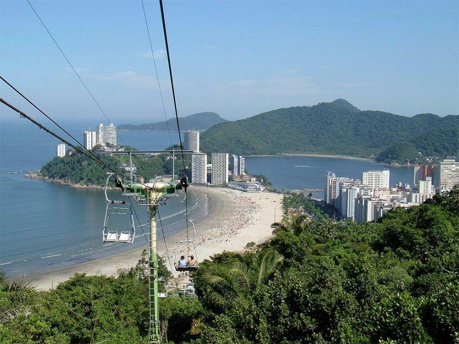 Passeio de teleférico em São Vicente é imperdível Foto: Wikimedia