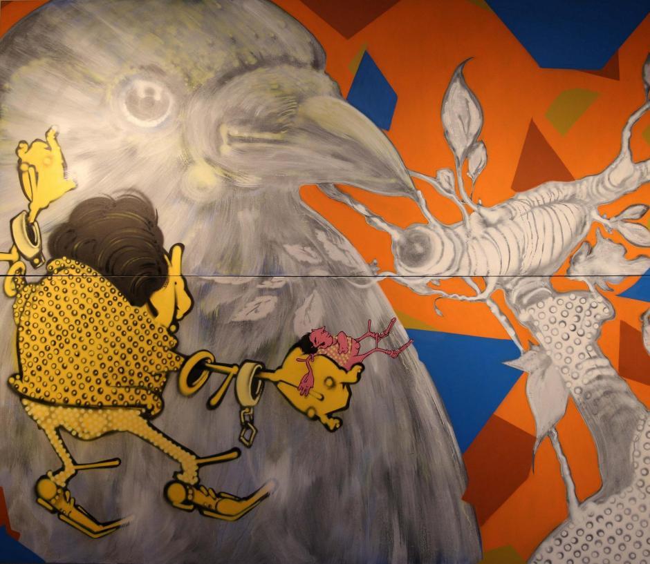 Tela de Alex Hornest faz parte da mostra Espaço Livre Foto: Divulgação