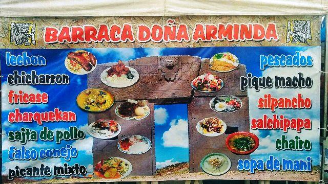 A Barraca da Dona Arminda serve pratos típicos bolivianos Foto: Lígia Bonfanti