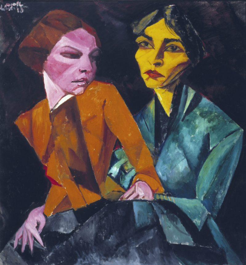 Duas amigas / Lasar Segall faz parte do acervo da Pinacoteca