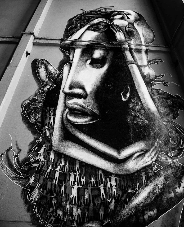 Grafite na Casa das Caldeiras Foto: Edu Prado
