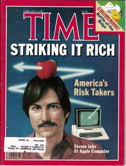 """Revista Time 1982 – Diversas publicações das quais Steve Jobs foi capa estarão na exposição """"Steve Jobs, O Visionário"""", entre os dias 15 de junho e 20 de agosto, no MIS, em São Paulo Crédito: Divulgação FullBrand"""