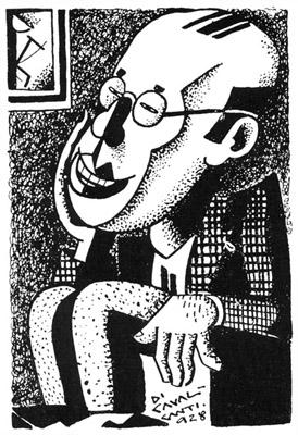 Caricatura de Mário de Andrade