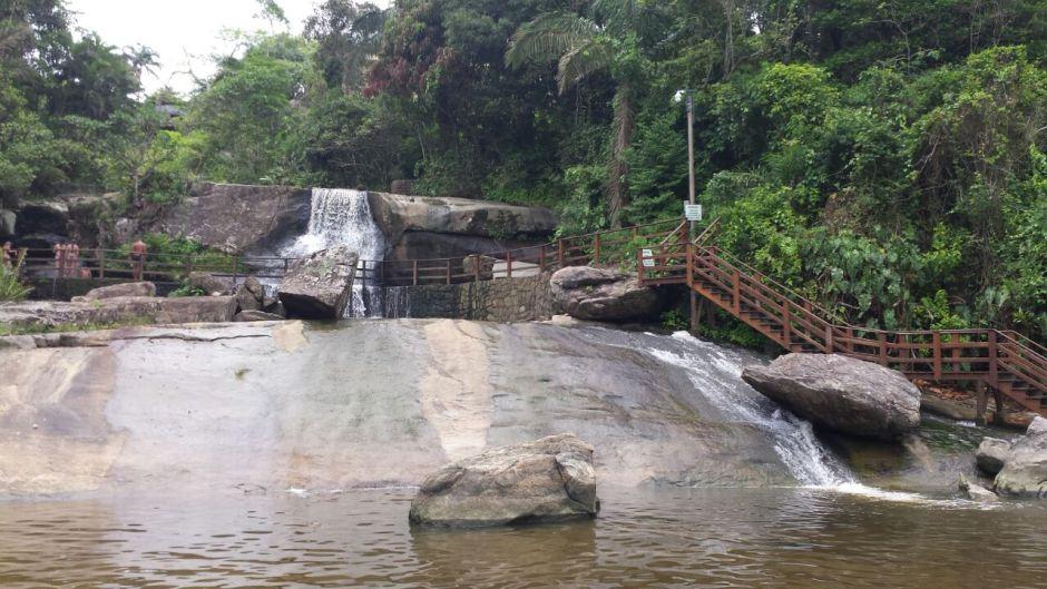Em Iporanga, a cachoeira