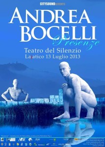 Cartaz do Teatro del Silenzio 2013