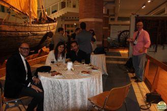 Jantar de recepção quando conheci novos blogueiros