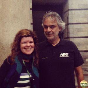 registro do meu encontro com Andrea Bocelli - ele è muito gentil!