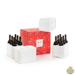 caixa para 12 garrafas de vinho