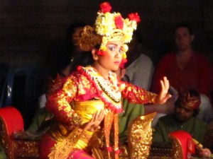 A traditional Legong dancer at Ubud Palace