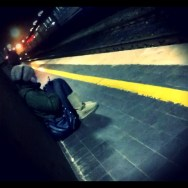 In Attesa by Federico Giusti alone, color, editoftheday, igerslucca, line, lucca, passengers, photo, she, station, wait, yellow,