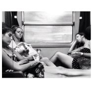 Train sleepers      by Federico Giusti biancoenero, blackandwhite, bn, girls, igerslucca, iphoneography, monochrome, passengers, sleep, train, woman,