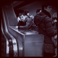 Cansado de esperar       by Marta Pacheco instagram, iphonegraphy, metro, munich, passengers, streetphotography, ubiquography,