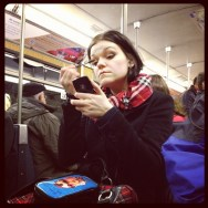 No without MakeUp     by Marta Pacheco iphonegraphy, metro, passengers, streetphotography, ubiquography,