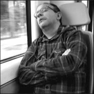 Lumberjack Nap by Vicente Jurado blacknwhite, passengers,