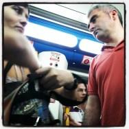 Subway looks. Madrid, Spain by zoltan_enevold follow4follow, followme, metro, passengers, photographer, photography, photooftheday, picoftheday, shoutout, street, streetphotography, subway, train, transport, tren, tube, webstagram, webstapick, woman,