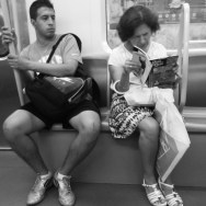 Reading over the shoulder. Madrid, Spain by zoltan_enevold ilovemyfollowers, iphoneonly, metro, moment, monochrome, passengers, photography, shoutout, station, street, streetphotography, streetshot, student, subway, tagsforlikes, tflers, travel, tren, tube, tweegram, webstagram, webstapick, woman,