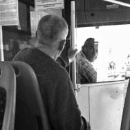 Talking to the bus driver                 by Benjamín Julve blackandwhite, bw, igers, iphonesia, monochrome, passengers, photooftheday, sarajevo, statigram, street, streetphotography, transport, ubiquography, webstagram,