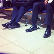 Waiting Room     by Núria Rodríguez feet, passengers, piessengers, train,