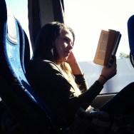 Unas páginas en el bus  by Rafa Pérez passengers,