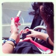 Gran precisión     by Núria Rodríguez bus, feet, passengers, piessengers,