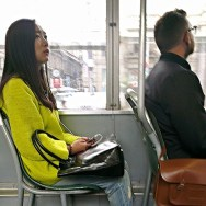Tram riders   by southcoasting milan, passengers,