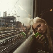 Construction/Reflection by southcoasting batterseapowerstation, blonde, passengers, traingame,