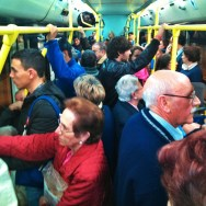 8pm bus by zoltan_enevold agobio, atope, bus, madrid, madridmemata, passengers,