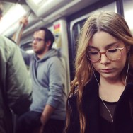 Look by Fran Simó candid, color, colour, passengers, street, streetphotography, subwaypeople, womenarebeautiful,