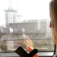 I saw her through the early morning mist by southcoasting batterseapowerstation, blonde, passengers, traingame,