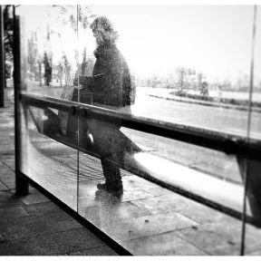 Just waiting for the next bus by Godo Chillida barcelona, blackandwhite, bnw, bnw_captures, bnw_city, bnw_society, busstop, bw_lover, bw_planet, monochrome, neighbourhood, passengers, street, streetphoto, streetphotography, streetphoto_bw, ubiquography,