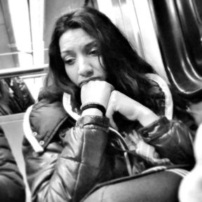 Sad and worried by Godo Chillida athens, blackandwhite, bnw, bnw_life, bnw_society, bw, bw_lover, bw_photooftheday, bw_planet, girl, greece, monochrome, passengers, sad, streetphoto, streetphotography_bw, streetphoto_bw, subway, ubiquography, worried,