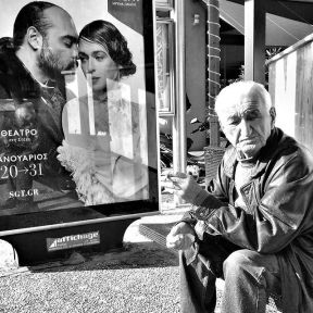 His time is measured in smoked cigarettes by Godo Chillida athens, bkackandwhite, bnw, bnw_life, bnw_society, busstop, bw, bw_lover, bw_photooftheday, bw_planet, greece, man, monochrome, passengers, smoking, street, streetphoto, streetphotography, streetphotography_bw, streetphoto_bw, ubiquography,
