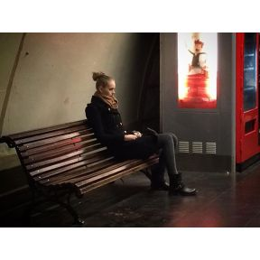 Waiting for the train by jader_one barcelona, city, citylove, girl, instabarcelona, instagood, instaspain, metro, metropolitan, passenger, passengers, photooftheday, picoftheday, spain, street, streetphotography, train, travel, tube, underground, waiting,