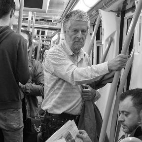 Mi parada by Vicente Jurado bnw, byn, igersmadrid, madrid, metro, monochrome, passengers, streetphotography, streetphotography_bw,
