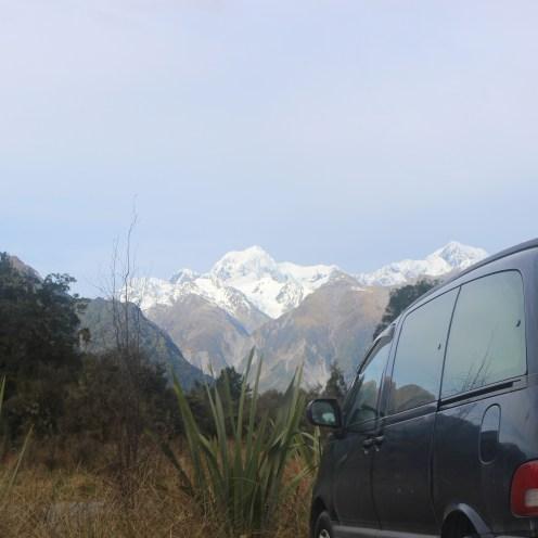 Sam, Mt Cook and Mt Tasman