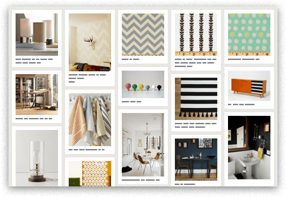 "De la página de Pinterest: ""Redecorate your Home!  Joy uses Pinterest to save decorating ideas for her new home in LA. She saves patterns, furniture, and accessories that catch her eye"""
