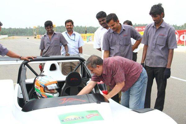 Driving with Narain Karthikeyan_thanking Narain...