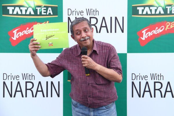 Driving with Narain Karthikeyan_I am thrilled to be in Coimbatore with the legend!